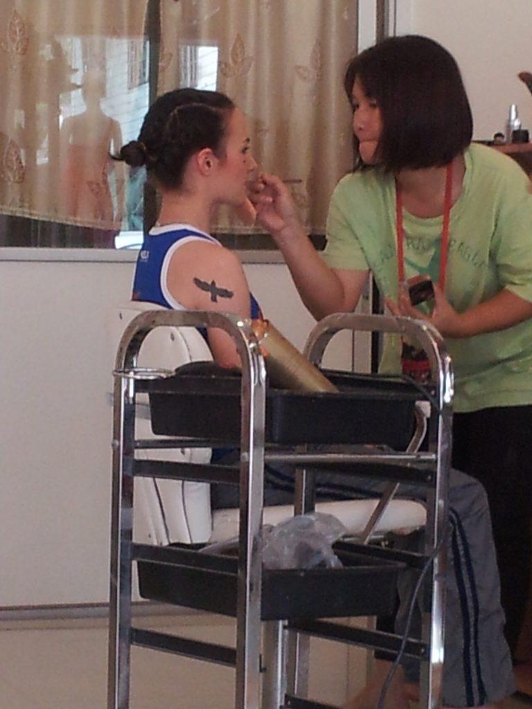 Putting on Make Up - Female Muay Thai