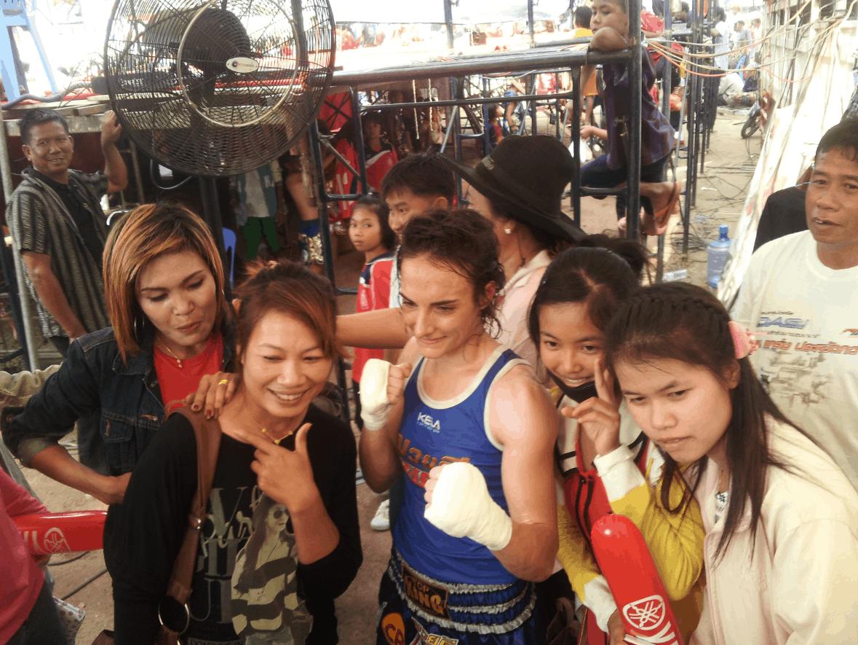 Sylvie von Duuglas Ittu - Isaan Nongbualamphu Muay Thai Fight