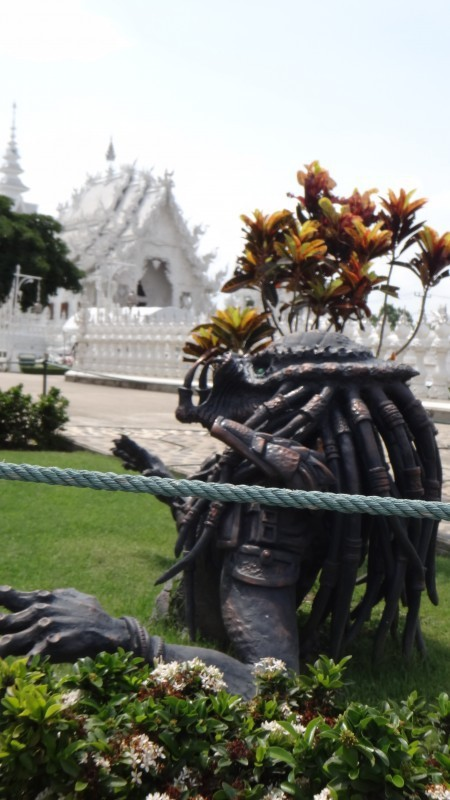 Predator at the Wat Rong Khun The White Temple