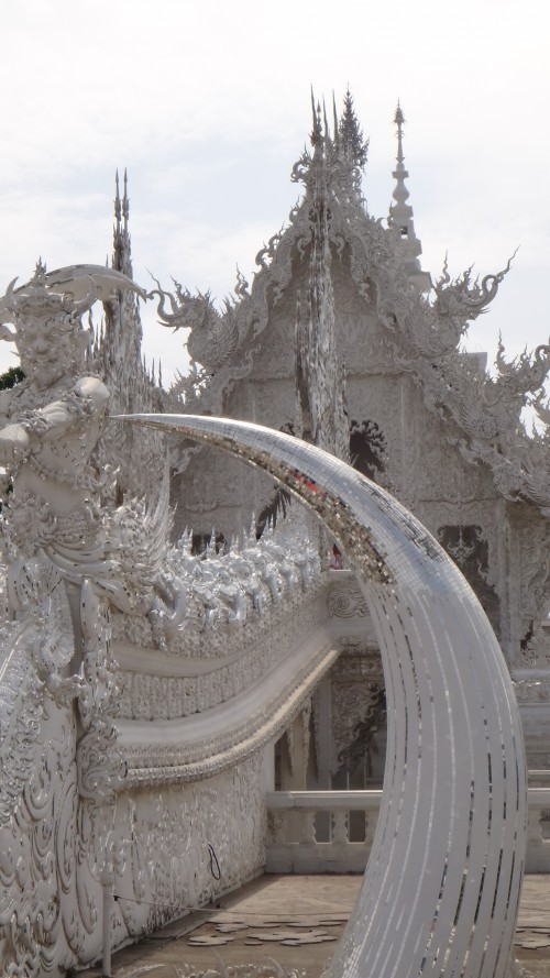 Tusks at Wat Rong Khun The White Temple