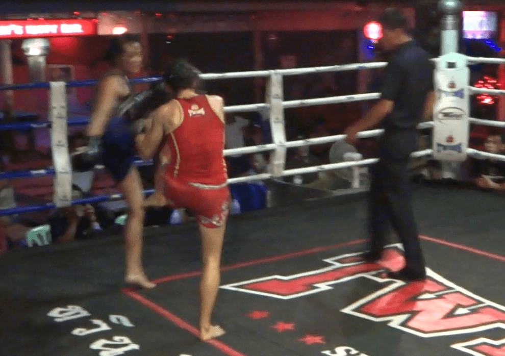 46th Muay Thai Fight, the block that hurt her - Sylvie von Duuglas-Ittu