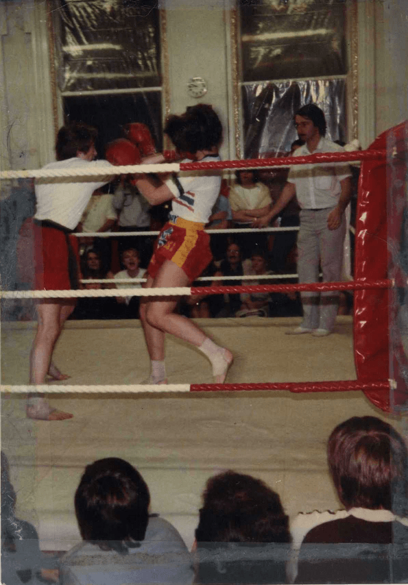 Anne Quinlan - early Muay Thai