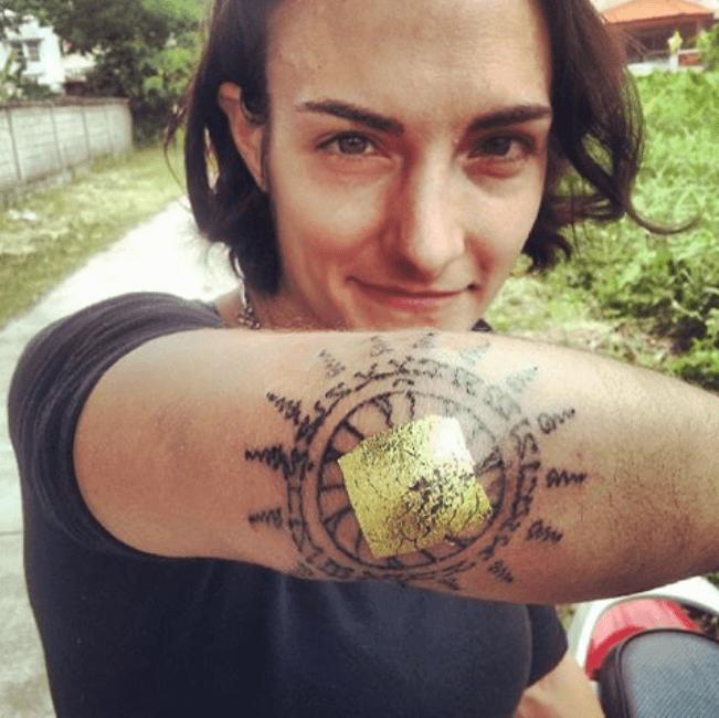 Sylvie Muay Thai Sak Yant Elbow tattoo