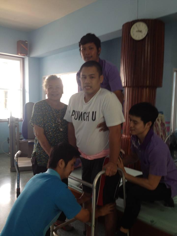 Khem Lanna Muay Thai - Help a Champion Recover - Standing Up