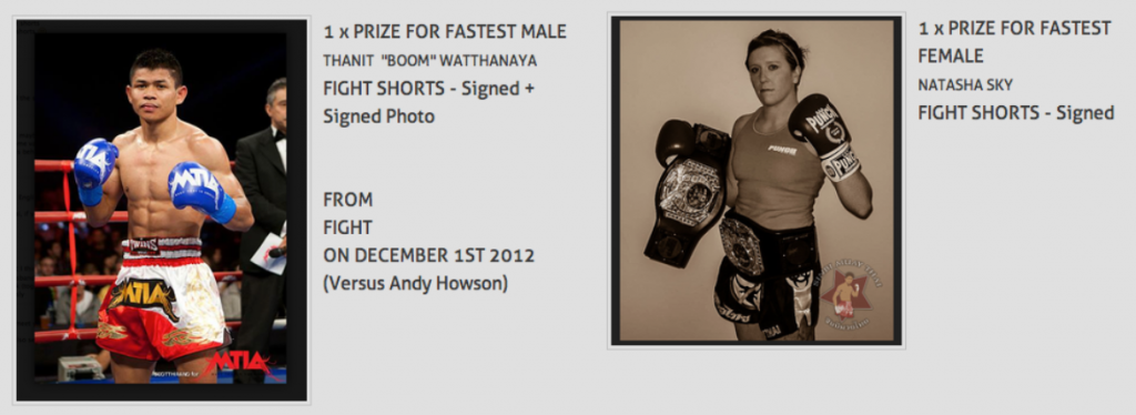 Fight Shorts Signed by Natash and Boom