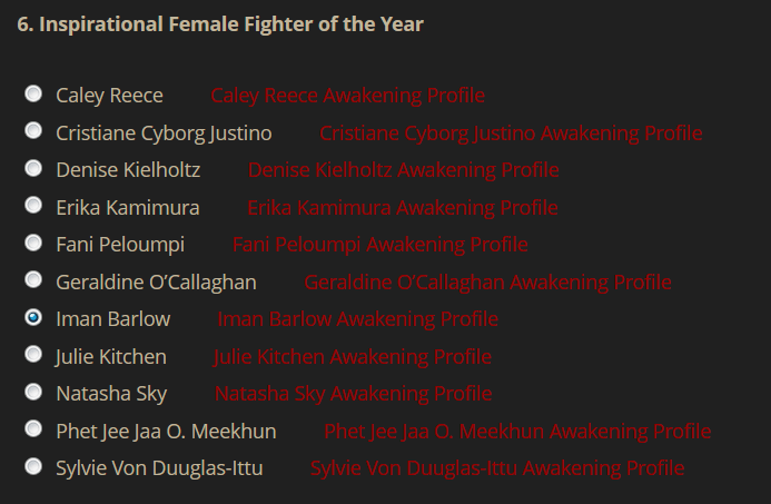 Awakenings Inspirational Fighter of the Year