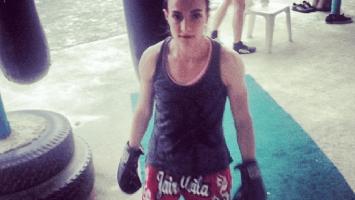 Sylvie von Duuglas-Ittu - training Muay Thai
