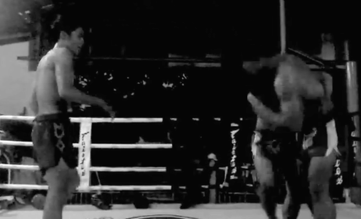 Thai Clinch - Lanna Muay Thai - black and white