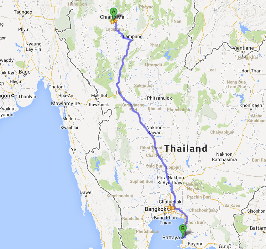 Chiang Mai to Pattaya - muay thai