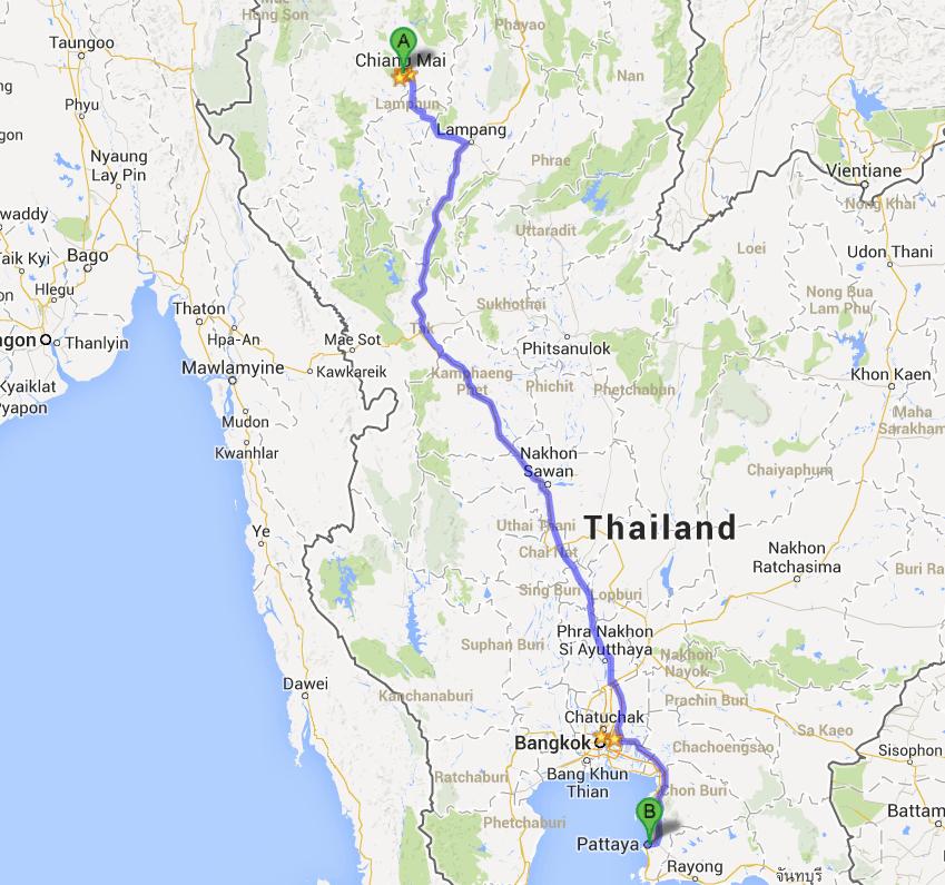 Chiang Mai to Pattaya - muay thai