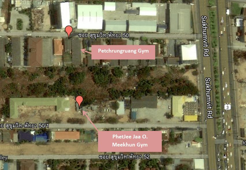 PhetJee Jaa O. Meekhun Gym - Map - Petchrungruang Gym