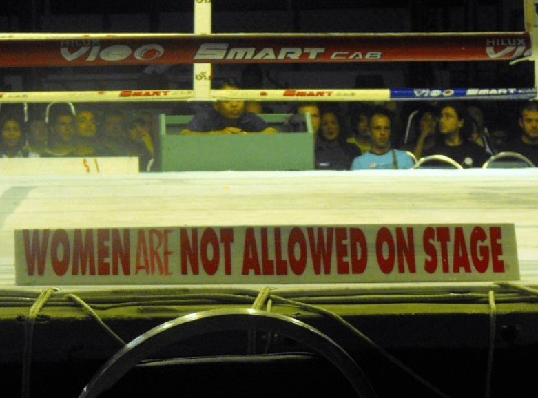 Women Not Allowed On Stage - Old Lumpinee