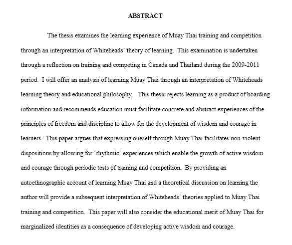 DEVELOPMENT OF A MUAY THAI ENTHUSIAST - An Interpretation of Whitehead's Theory of Learning-w1400