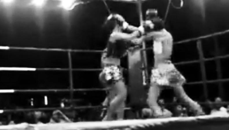 Phet Jee Jaa O. Meekhun fighting in Korat female fighting