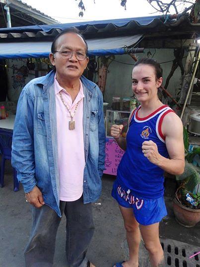 Sylvie von Duuglas-Ittu and Bamrung Petchrungruang Muay Thai