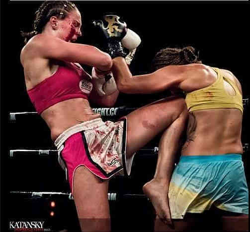 Bloodied Face - Jorina Baars vs Martina Jindrova Lion Fight-w1400