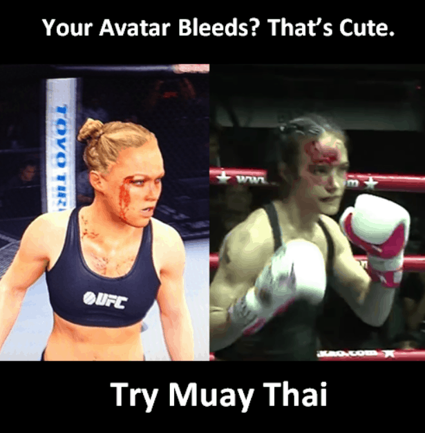 Your Avatar Bleeds, That's Cute - Ronda Rousey Muay Thai