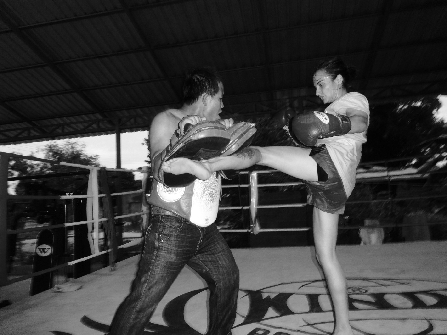 Sylvie and Sangwan O Meekhun - Pattaya Muay Thai