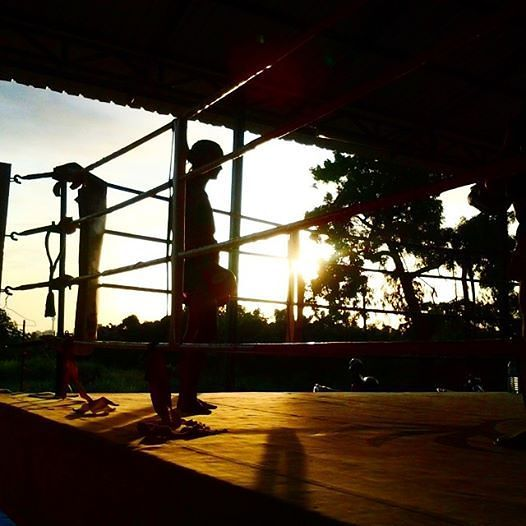 Sylvie in the Sunset - Padwork at O. Meekhun Gym Pattaya