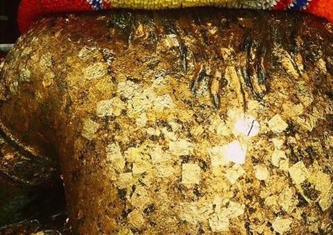 Pra Rahu - Wat Saman Rattanaram - gold leaf back