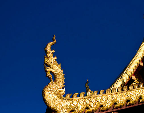 Thai Temple Roof - Dragon Head