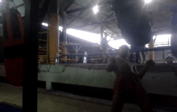 Jatukam showing the Matrix style Muay Thai