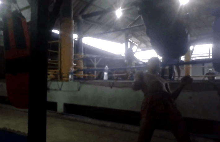 Jatukam showing the Matrix style Muay Thai