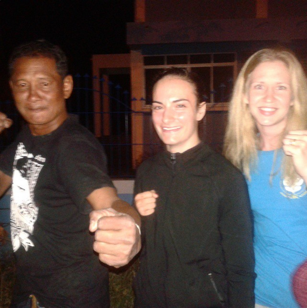 Dam, Sylvie and Frances - Muay Thai Great Men