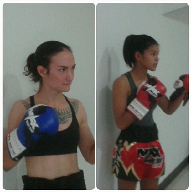 Muangsingjiew vs Sylvie von Duuglas-Itt - Max Muay Thai weigh in