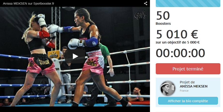 female fighter crowdfunding - Sylvie