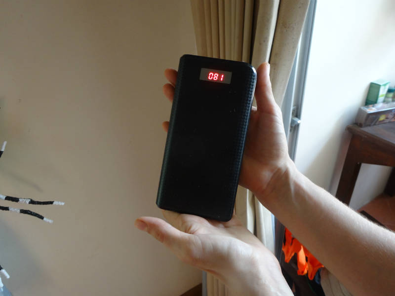 an example of an external, backup battery