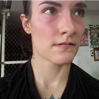 Sylvie selfie - Muay Thai