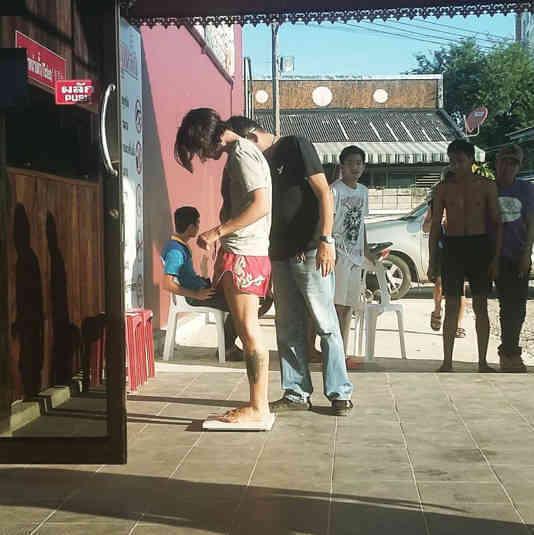 Fight 127 - Sylvie von Duuglas-Ittu weighing in Chiang Mai Boxing Stadium-w1400