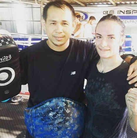 Daeng and Sylvie at Lanna Muay Thai-w1400