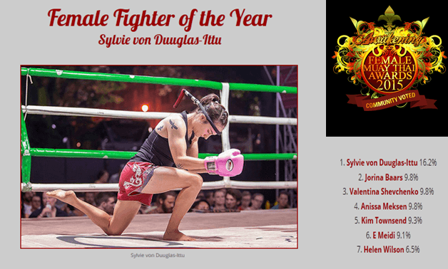 Female Muay Thai Fighter of the Year - Awakenings Awards