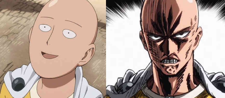 The Two Faces of Saitama - One Punch Man-w1400