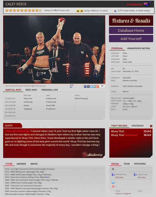 Awakening Female Fighter Profile Caley Reece-w1400