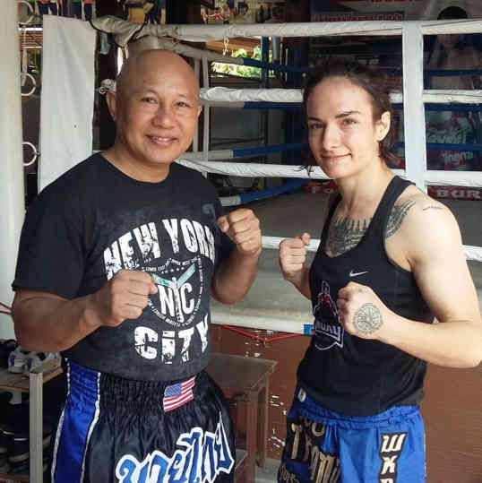 Sylvie Muay Thai and Burklerk Training-w1400