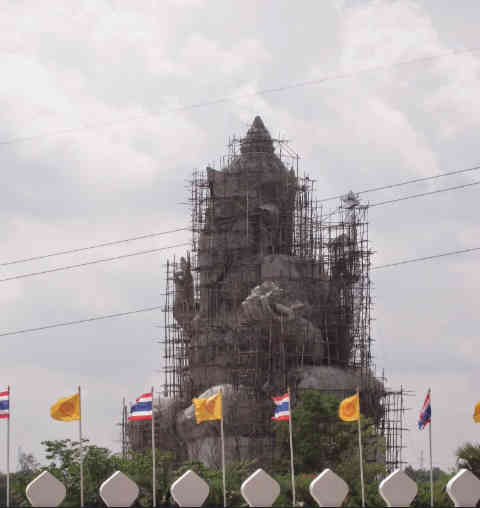 Giant Ganesha Under Construction - Thailand