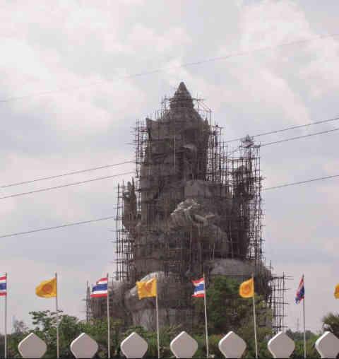 Giant Ganesha Under Construction - Thailand