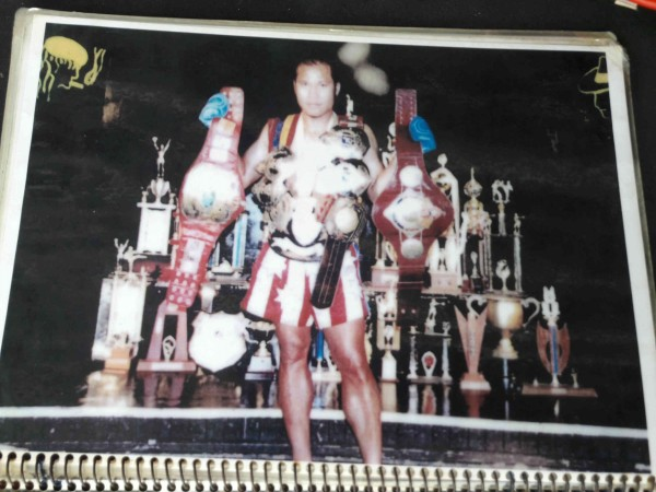 Sagat Petchyindee - all his belts and trophies