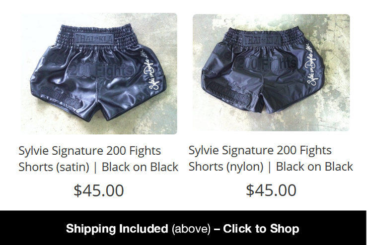 Shop the Sylvie 200 Fight Shorts Here - click to shop