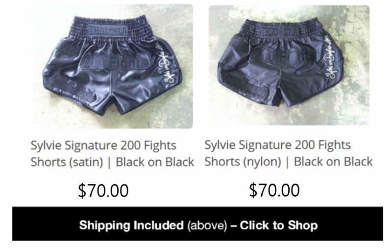 Sylvie Store - Sylvie 200 Fights Signature Shorts - Black on Black
