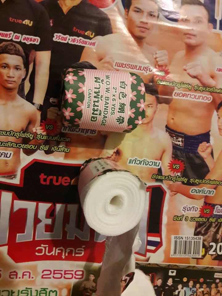 linen fight wraps sold in Thailand - Muay Thai