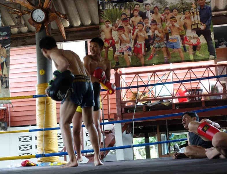 positioning-in-the-gym-female-fighter