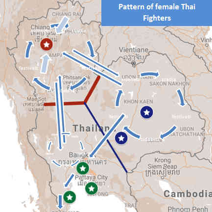 Pattern of Female Thai Fighters