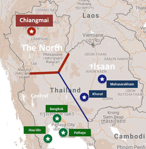 The Best Female Fighting in Thailand - A Map