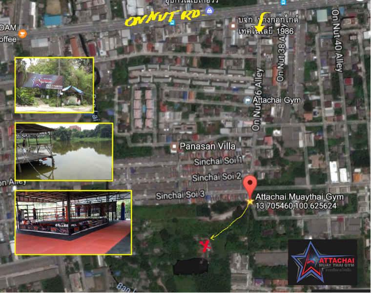 Attachai Muay Thai Gym - Bangkok Map with Directions