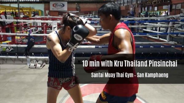 10 Minutes with Kru Thailand Pinsinchai - Santai Muay Thai Gym