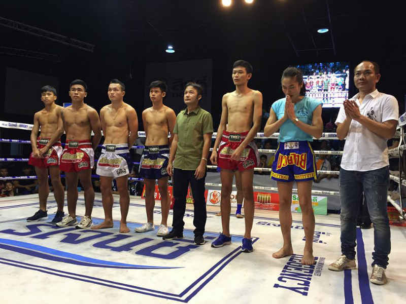 Angie Petchrungruang promo - first kathoey fighter at Lumpinee - prefight